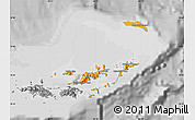 Political Shades Map of British Virgin Islands, desaturated
