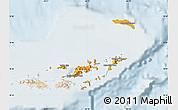 Political Shades Map of British Virgin Islands, lighten