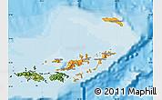 Political Shades Map of British Virgin Islands, satellite outside, bathymetry sea