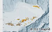 Political Shades Map of British Virgin Islands, semi-desaturated