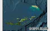 Satellite Map of British Virgin Islands, darken