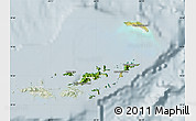 Satellite Map of British Virgin Islands, lighten