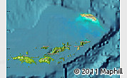 Satellite Map of British Virgin Islands, physical outside, satellite sea