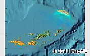 Satellite Map of British Virgin Islands, political outside, satellite sea