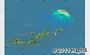 Satellite Map of British Virgin Islands, semi-desaturated, land only
