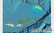 Satellite Map of British Virgin Islands, shaded relief outside, satellite sea