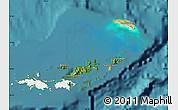 Satellite Map of British Virgin Islands, single color outside