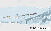Classic Style Panoramic Map of British Virgin Islands