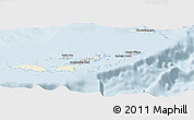 Classic Style Panoramic Map of British Virgin Islands, single color outside