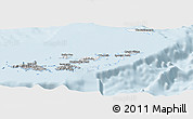 Gray Panoramic Map of British Virgin Islands