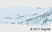 Gray Panoramic Map of British Virgin Islands, single color outside