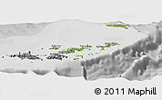 Physical Panoramic Map of British Virgin Islands, desaturated