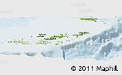 Physical Panoramic Map of British Virgin Islands, lighten