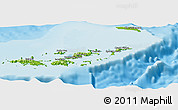 Physical Panoramic Map of British Virgin Islands