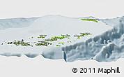 Physical Panoramic Map of British Virgin Islands, semi-desaturated