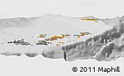Political Shades Panoramic Map of British Virgin Islands, desaturated