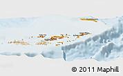 Political Shades Panoramic Map of British Virgin Islands, lighten