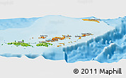 Political Shades Panoramic Map of British Virgin Islands, physical outside