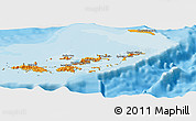 Political Shades Panoramic Map of British Virgin Islands
