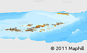 Political Shades Panoramic Map of British Virgin Islands, semi-desaturated, land only