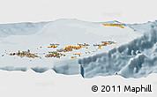 Political Shades Panoramic Map of British Virgin Islands, semi-desaturated