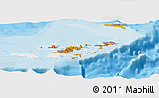 Political Shades Panoramic Map of British Virgin Islands, single color outside