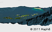Satellite Panoramic Map of British Virgin Islands, darken