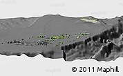 Satellite Panoramic Map of British Virgin Islands, desaturated