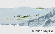 Satellite Panoramic Map of British Virgin Islands, lighten