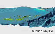 Satellite Panoramic Map of British Virgin Islands, physical outside, satellite sea