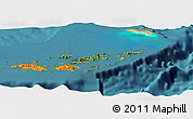 Satellite Panoramic Map of British Virgin Islands, political shades outside, satellite sea