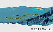 Satellite Panoramic Map of British Virgin Islands