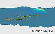 Satellite Panoramic Map of British Virgin Islands, semi-desaturated, land only