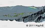 Satellite Panoramic Map of British Virgin Islands, semi-desaturated