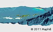 Satellite Panoramic Map of British Virgin Islands, single color outside