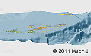 Savanna Style Panoramic Map of British Virgin Islands
