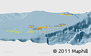 Savanna Style Panoramic Map of British Virgin Islands, single color outside