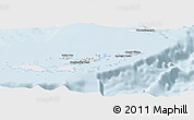 Silver Style Panoramic Map of British Virgin Islands, single color outside