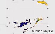 Flag Simple Map of British Virgin Islands, flag centered