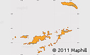 Political Simple Map of British Virgin Islands, cropped outside