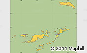 Savanna Style Simple Map of British Virgin Islands, cropped outside