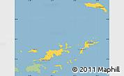 Savanna Style Simple Map of British Virgin Islands, single color outside