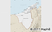 Classic Style Map of Muara/Seria/Tutong