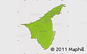 Physical Map of Muara/Seria/Tutong, cropped outside
