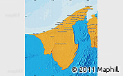 Political Map of Muara/Seria/Tutong