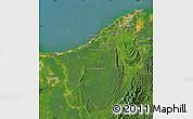 Satellite Map of Muara/Seria/Tutong