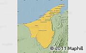 Savanna Style Map of Muara/Seria/Tutong