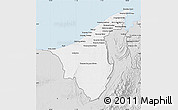 Silver Style Map of Muara/Seria/Tutong