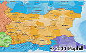 Political Shades 3D Map of Bulgaria