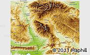 Physical 3D Map of Blagoevgard
